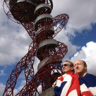 At the Olympic Games, London with Tony Grossi