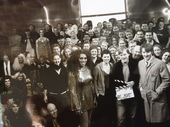 Wrap photo. Last day at Ealing Studios. I am on the far left in the white opera scarf